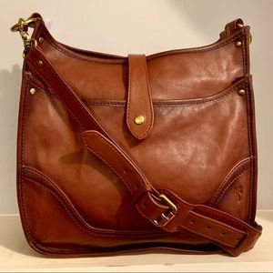 Frye Madison North South Cognac Leather Crossbody
